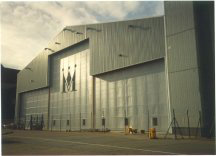 Monarch hangar at Luton airport